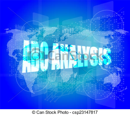 Of words on digital. Abc analysis clipart