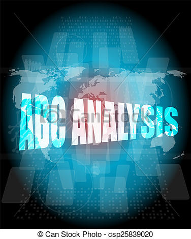Abc analysis clipart graphic black and white stock Stock Photo of words abc analysis on digital screen, business ... graphic black and white stock