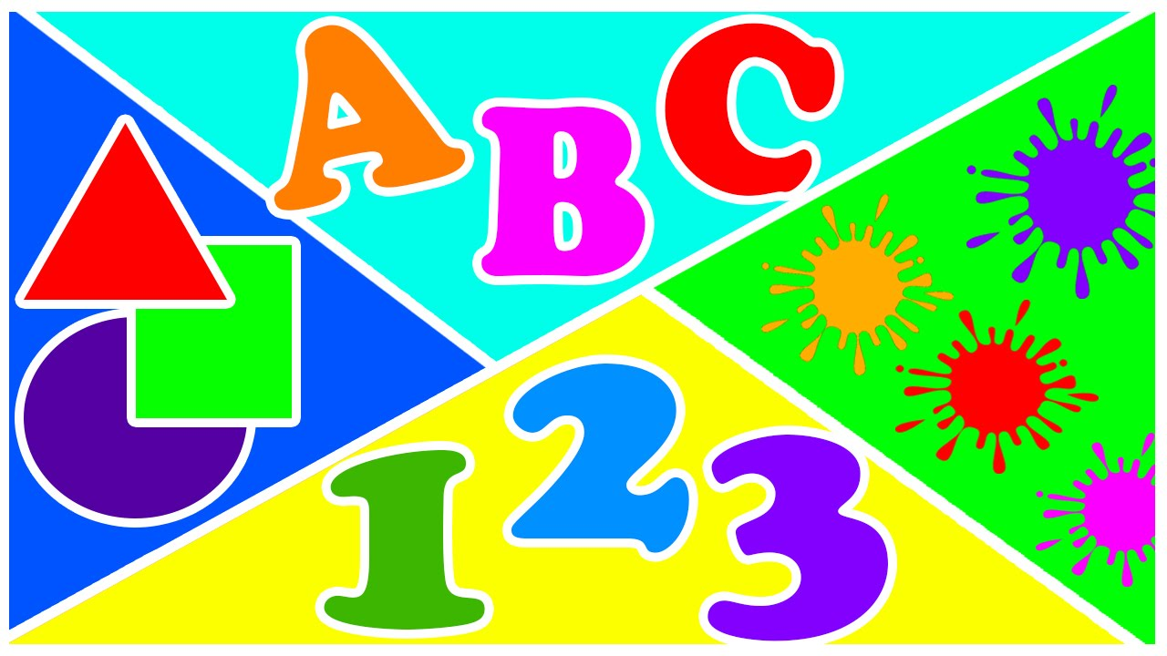Abc and number clipart. Songs alphabet colors shapes