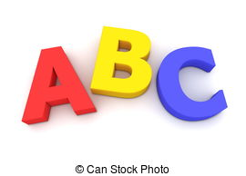 Abc and number clipart. Stock illustrations vector eps