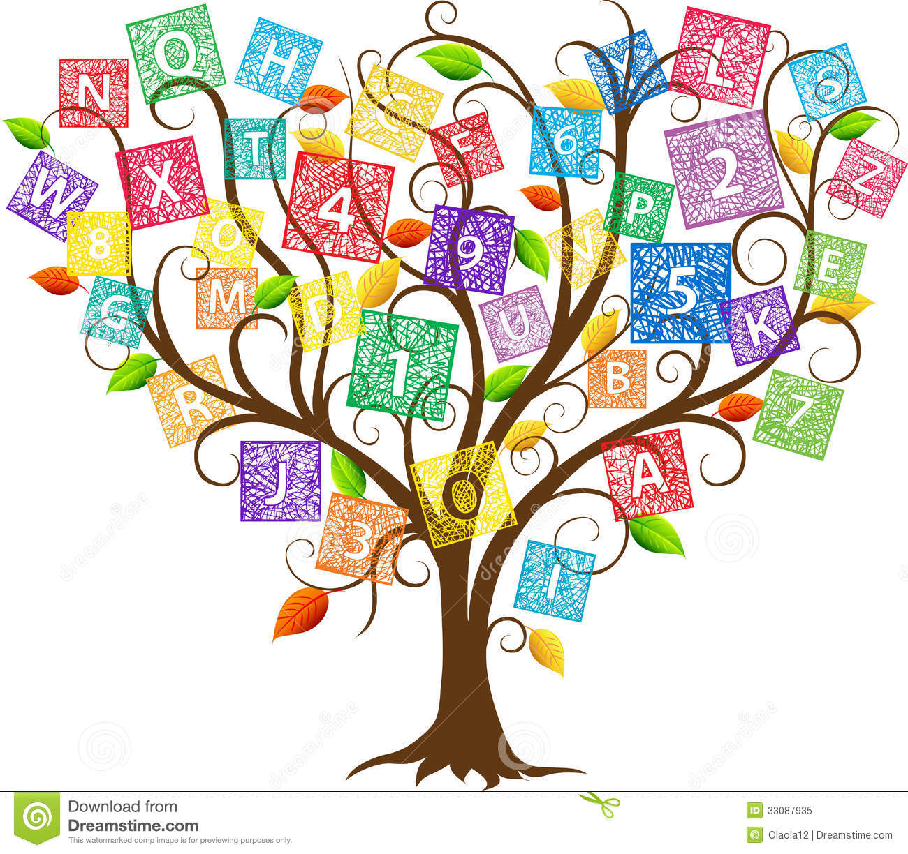 Clipartfest letter tree. Abc and number clipart