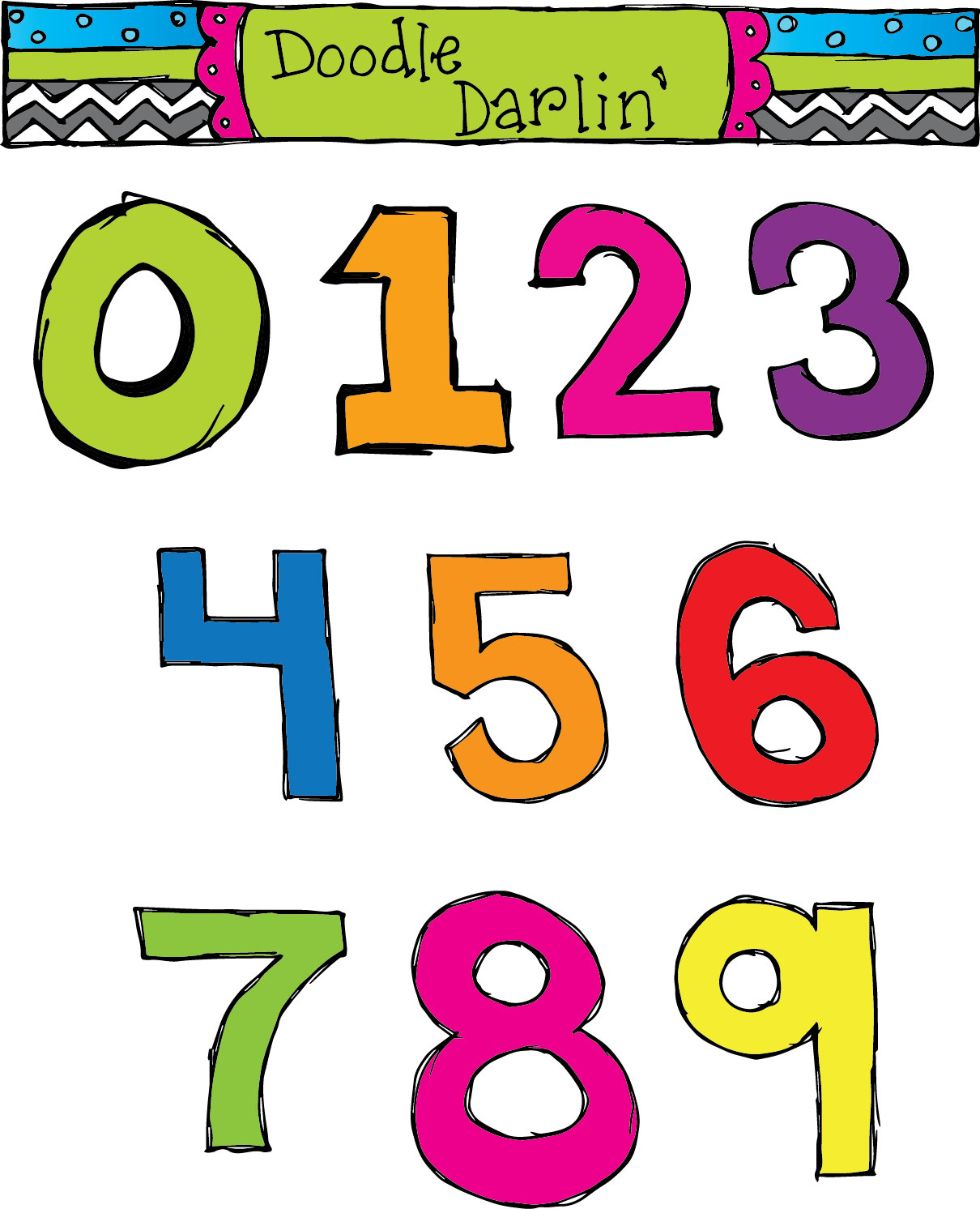 Free download clip art. Abc and number clipart