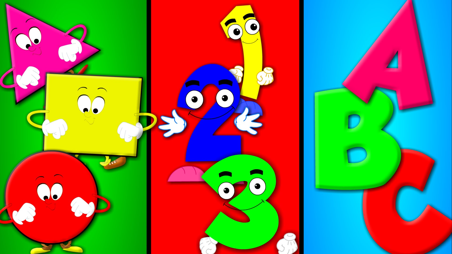 Abc and number clipart png free stock Shapes Song | Numbers Song | ABC song | Nursery Rhymes - YouTube png free stock