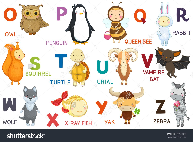 Animals letter oz cartoon. Abc animal clipart