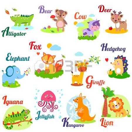 cute animals stock. Abc animal clipart