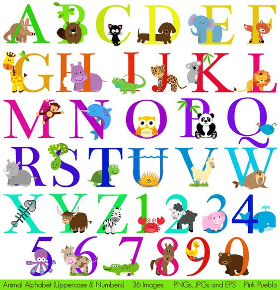 Abc animal clipart png free library Animal Alphabet Vectors & Clipart 2 | Pinterest | Creative, Vector ... png free library