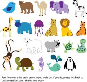 Abc animal clipart. Clipartfest cute animals clip