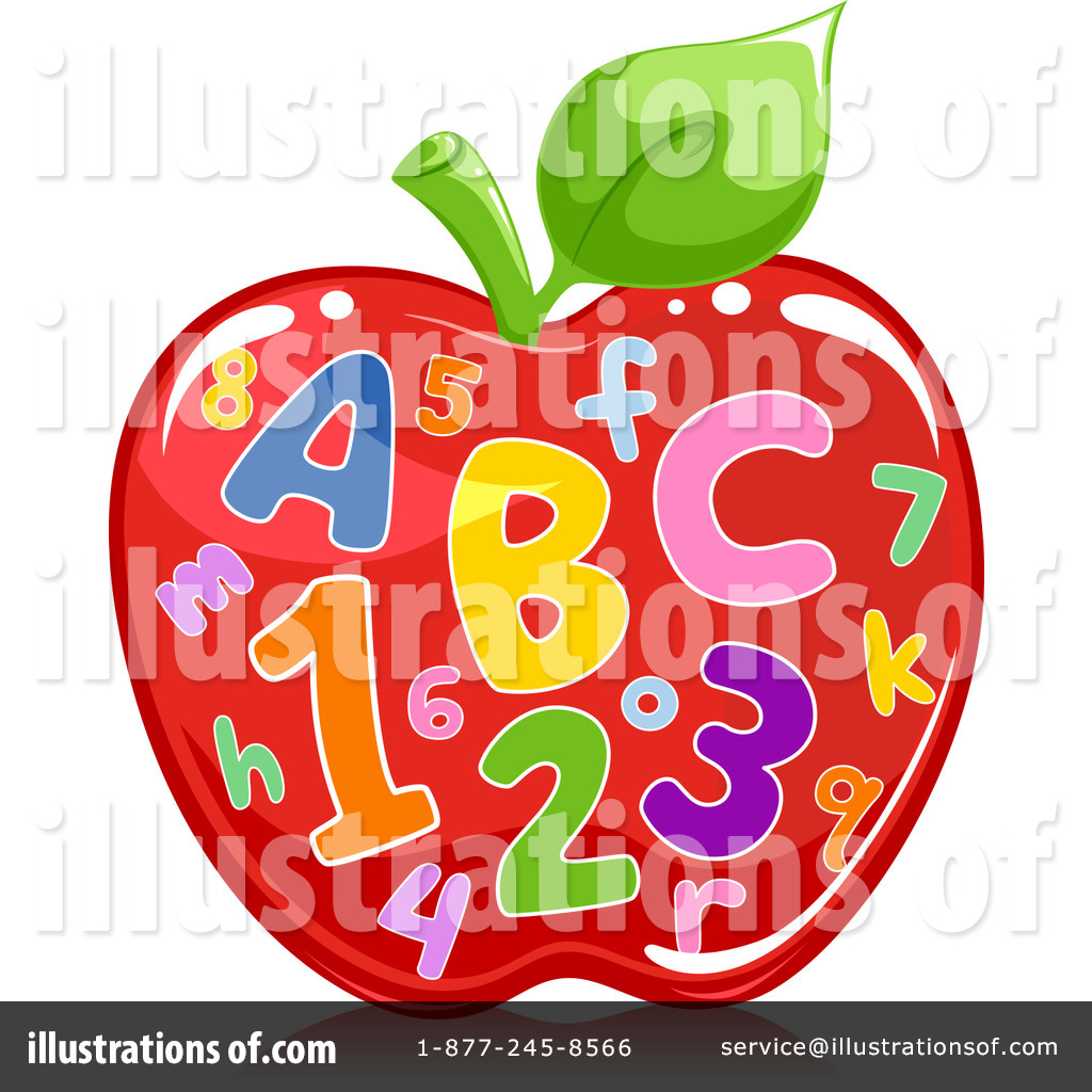 Abc apple clipart. Illustration by bnp design