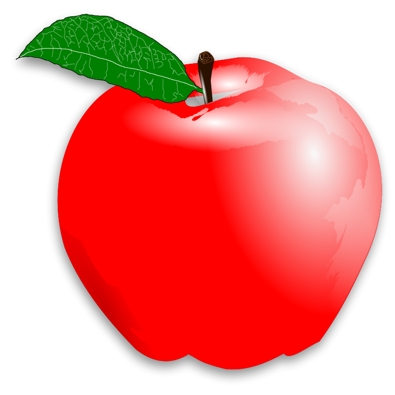 Red apple clipart no background