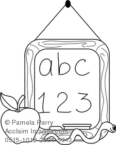 Abc apple clipart picture transparent Clip Art Illustration Of A Chalkboard, Apple, And Worm. The ... picture transparent