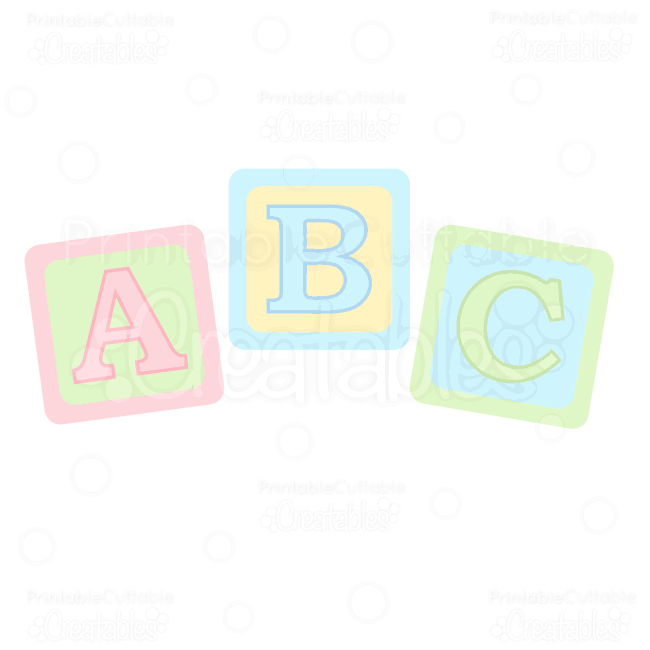Abc baby blocks clipart clipart black and white stock ABC Baby Blocks Free SVG Cuts & Clipart | circut | Svg cuts, Baby ... clipart black and white stock