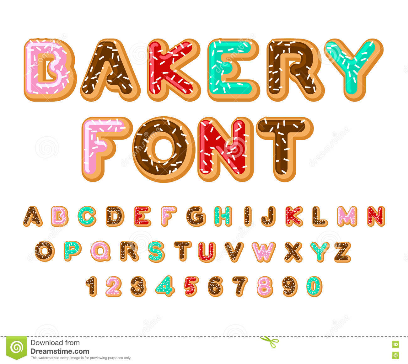 Abc baker clipart clipart library Bakery Font. Donut ABC. Baked In Oil Letters. Chocolate Icing An ... clipart library
