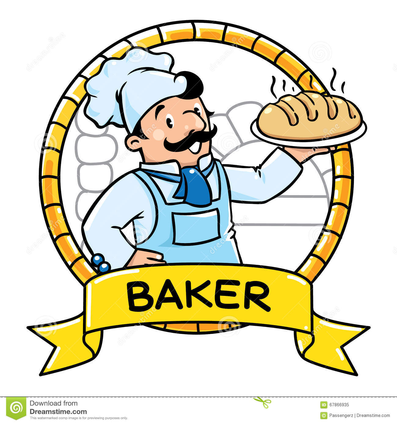 Abc baker clipart jpg stock Funny Cook Or Baker. Emblem. Profession ABC Series Stock Vector ... jpg stock