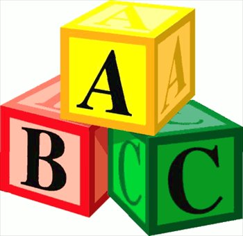 Blocks kid black and. Abc block clipart