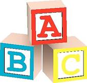 Building blocks clipartfest alphabet. Abc block clipart