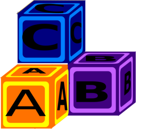 Abc block clipart. Blocks clip art at