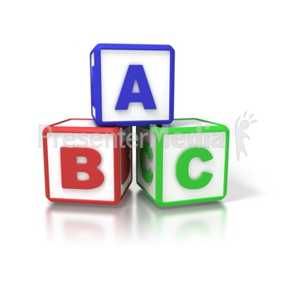 ABC Blocks - Signs and Symbols - Great Clipart for Presentations ... transparent stock