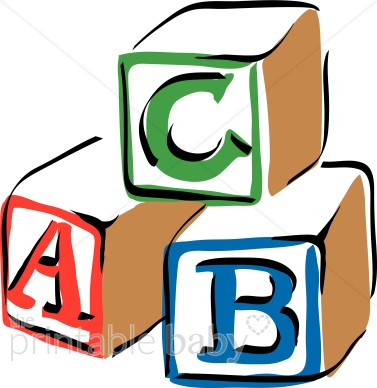 Baby blocks kid colorful. Abc block clipart