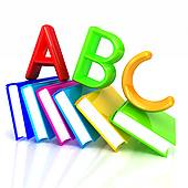 Gallery For > ABC Book Clipart picture black and white stock