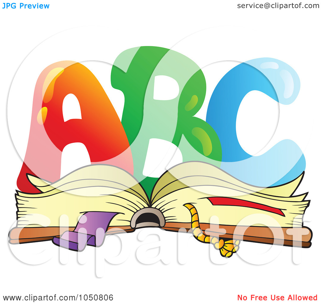 Royalty-Free (RF) Clip Art Illustration of ABC Over An Open Book ... clipart free