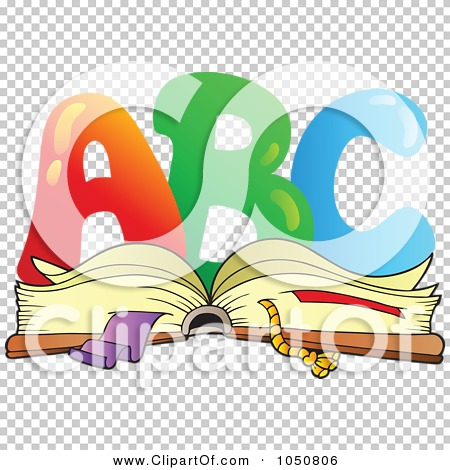 Royalty-Free (RF) Clip Art Illustration of ABC Over An Open Book ... image royalty free