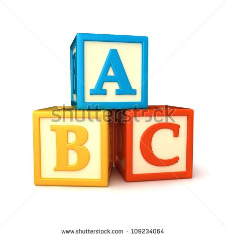 Abc Building Blocks On White Background Stock Illustration ... clip art free library