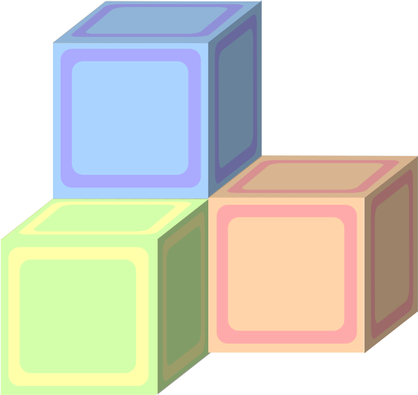Tri Baby Plain Block Pastel Clip Art at Clker.com - vector clip art ... clip free