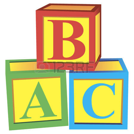 stock illustrations cliparts. Abc building blocks clipart
