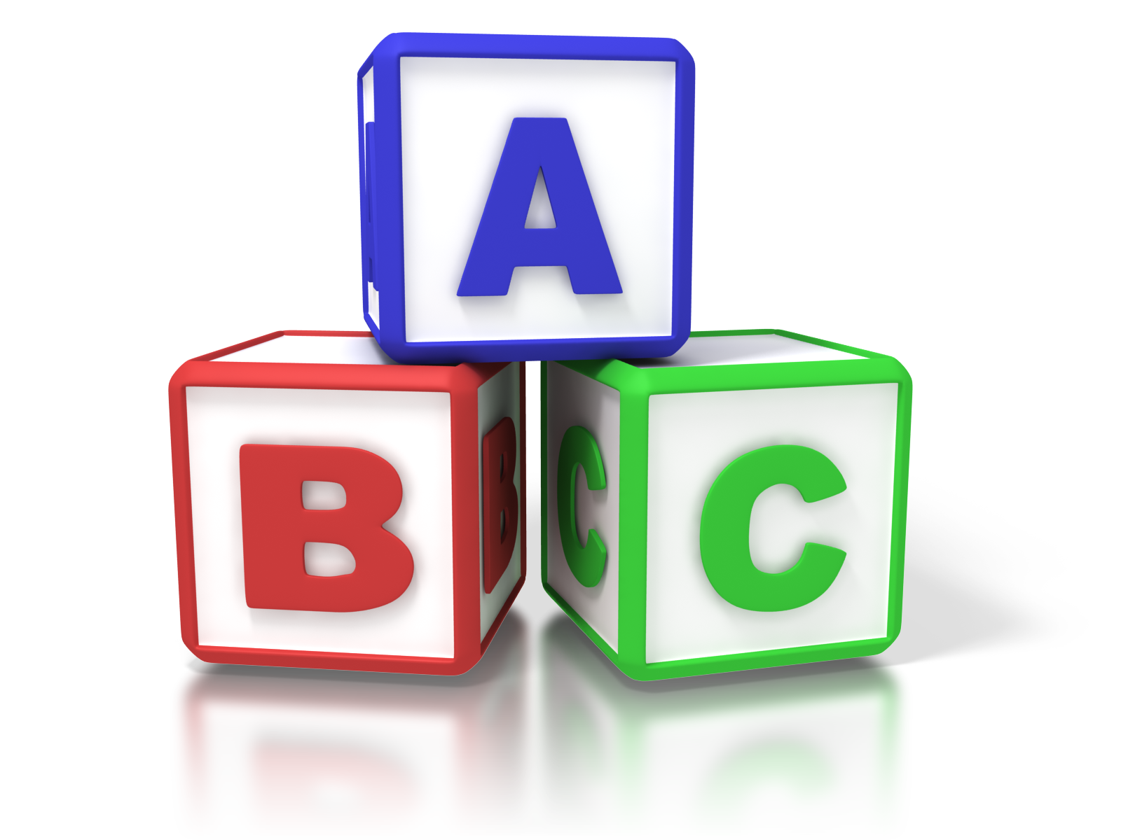 To get real change. Abc building blocks clipart