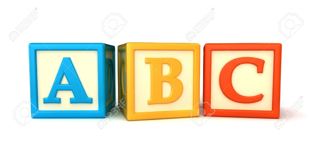 Abc building blocks clipart svg library stock ABC Building Blocks On White Background Stock Photo, Picture And ... svg library stock