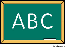 ABC chalkboard clip art at Lakeshore Learning png black and white download