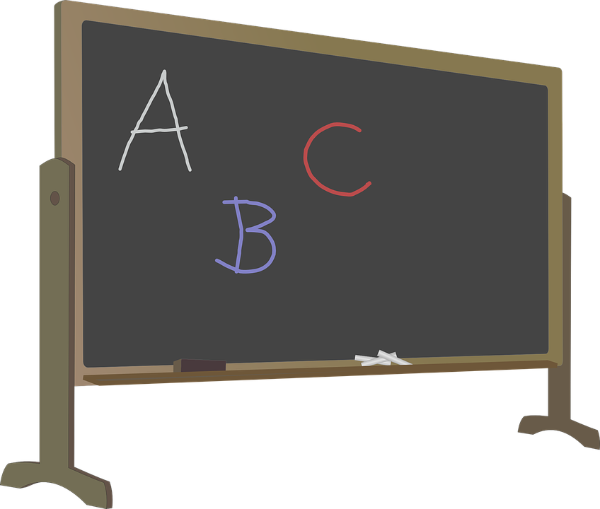 Free vector graphic: Abc, Alphabet, Blackboard, Chalk - Free Image ... graphic freeuse stock