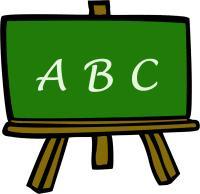 Abc chalkboard clipart