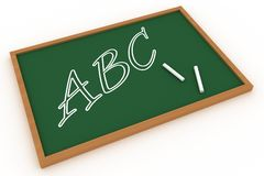 ABC Written On A Chalkboard Stock Photography - Image: 6370142 vector royalty free library