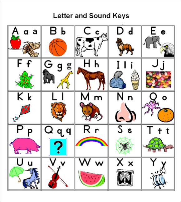 Abc chart clipart image Sample ABC Chart - 7+ Free Documents Download in PDF image