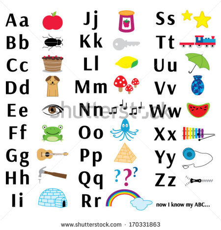 Abc chart clipart png freeuse library Abc Letter Chart Stock Vector 170331863 - Shutterstock png freeuse library