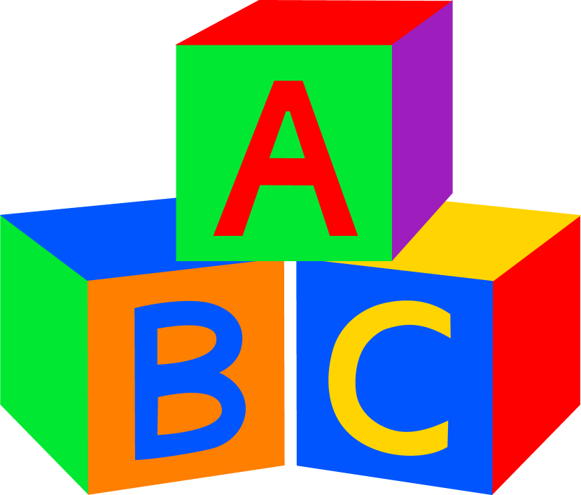 Abc clip art. Clipart clipartfest blocks black