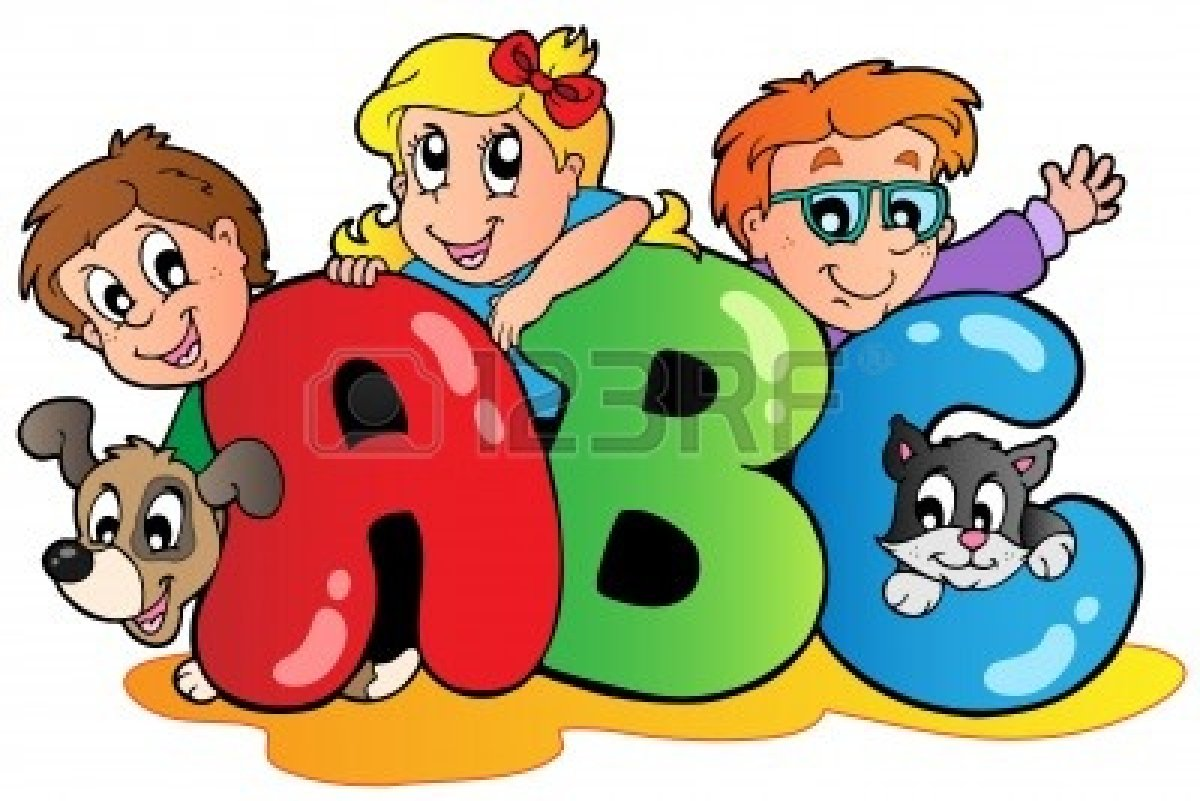 Center clipart kid alphabet. Abc clip art