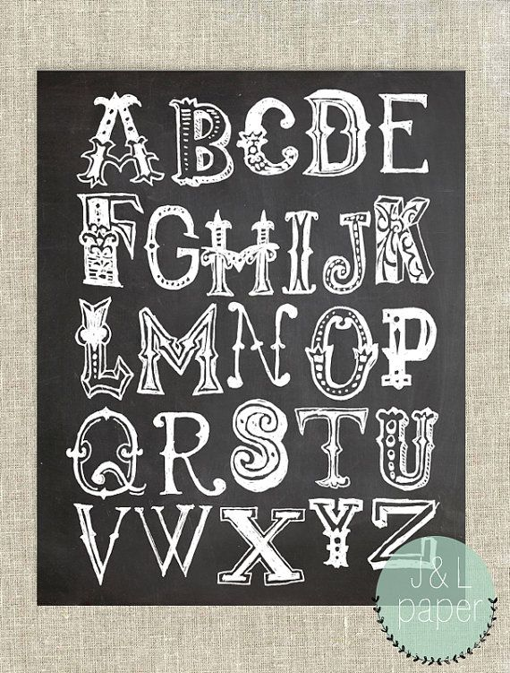 Abc clipart chalkboard quote banner free download Chalkboard Alphabet 8\