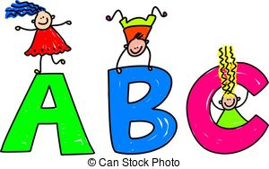 Abc clipart for kids picture royalty free library Abc kids Clipart and Stock Illustrations. 7,360 Abc kids vector ... picture royalty free library