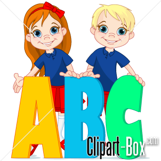 Abc clipart for kids picture transparent library CLIPART ABC CHILD | Royalty free vector design picture transparent library