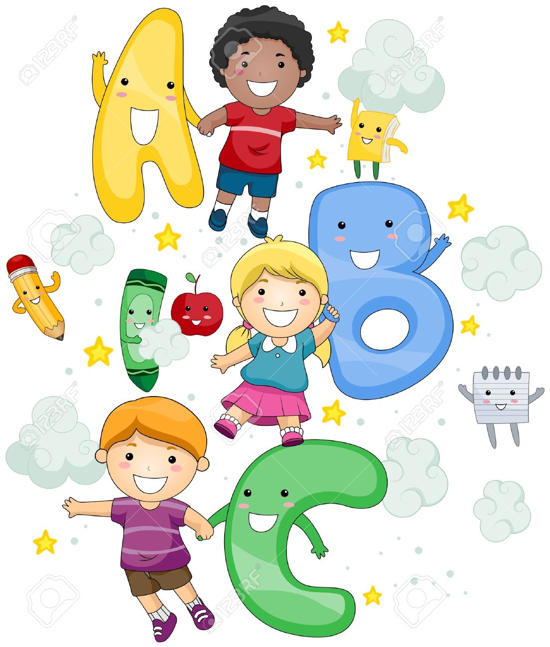 Abc clipart for kids png transparent library Abc clipart for kids - ClipartFest png transparent library