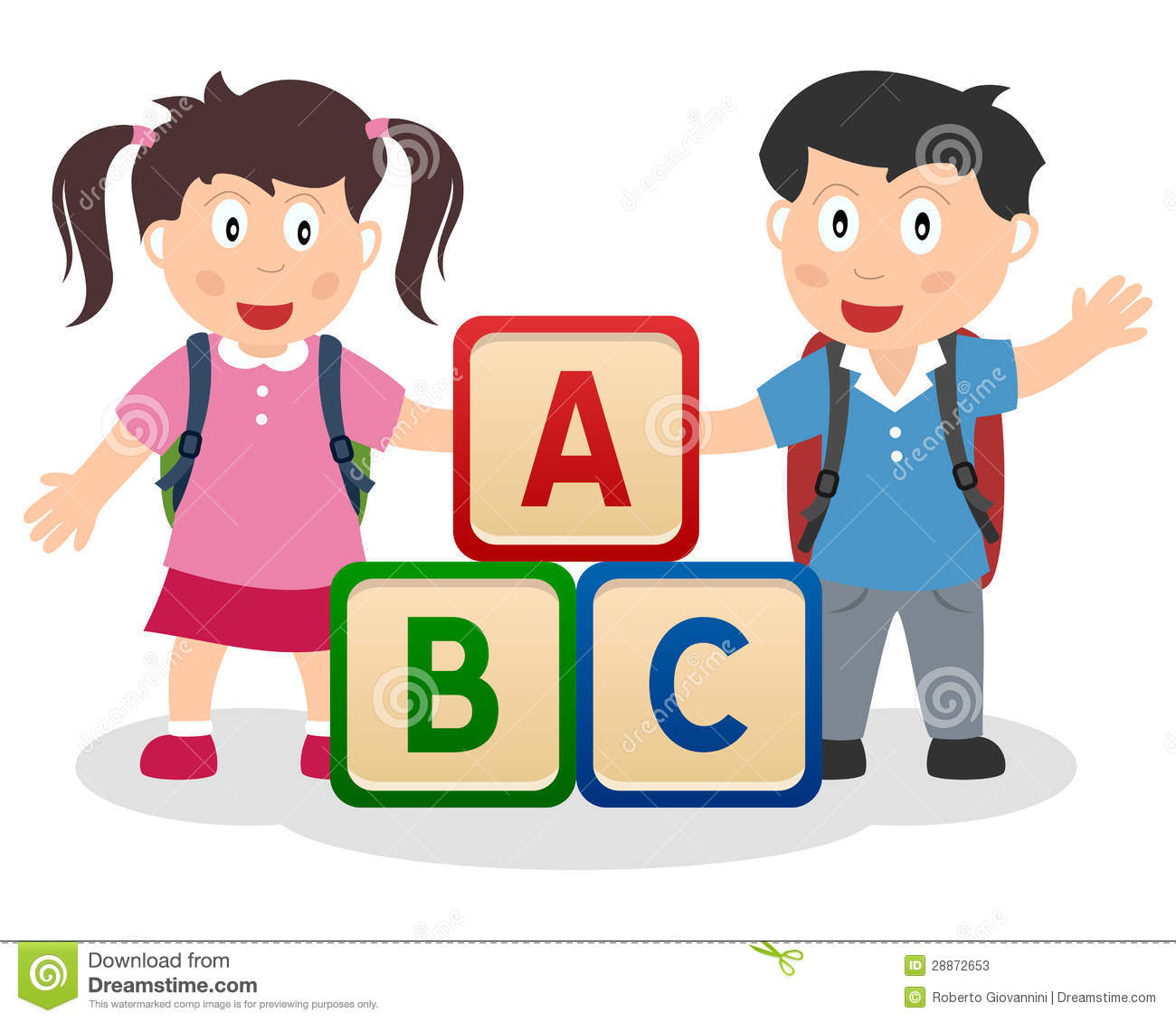 Abc clipart for kids banner black and white download Abc kids clipart - ClipartFest banner black and white download