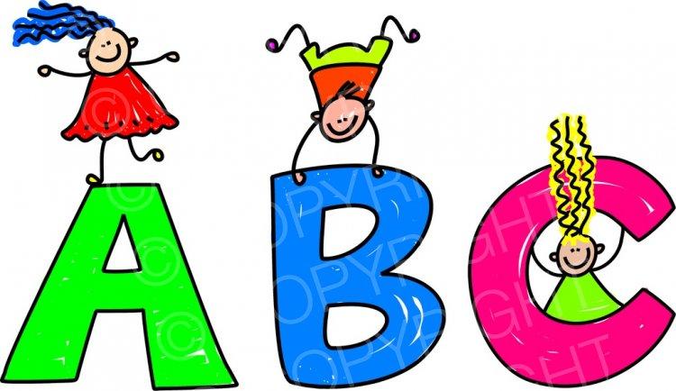 Abc clipart kids transparent stock Toddler Art ABC Alphabet Children Clipart – Prawny Clipart Cartoons ... transparent stock