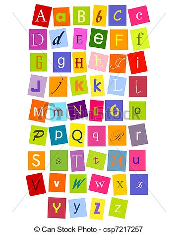 And stock illustrations colorful. Abc clipart letters