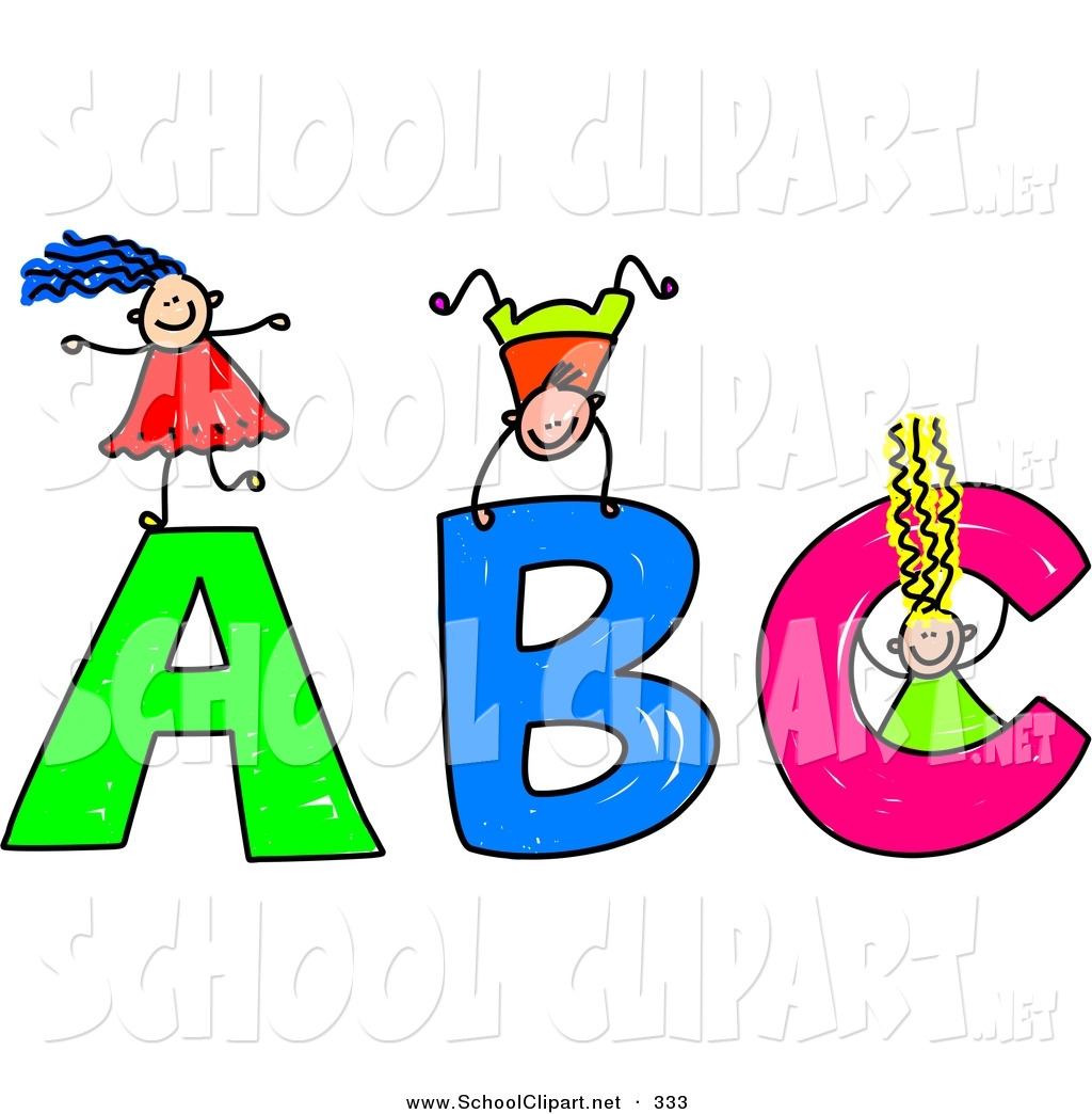 Abc writing clipart