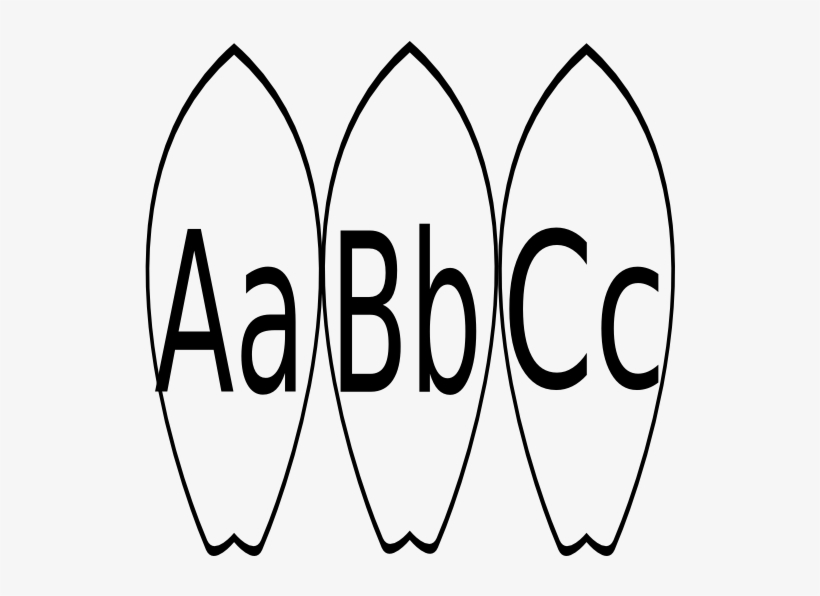 Abc clipart word black and white png transparent download Black And White Library A B C Word Wall Clip Art - Surfboard ... png transparent download