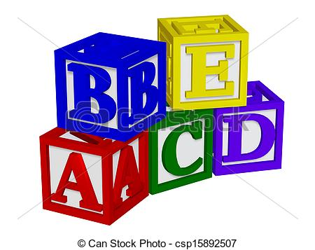 Stock Illustration of ABC blocks 3d csp15892505 - Search Clipart ... transparent download