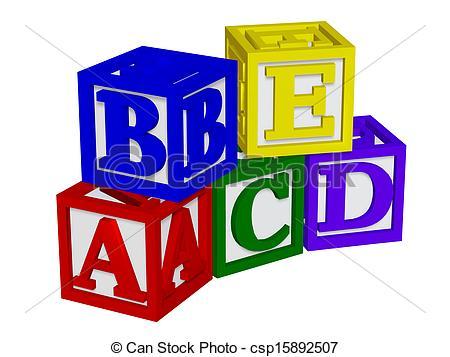 Abc cubes clipart transparent download Stock Illustration of ABC blocks 3d csp15892505 - Search Clipart ... transparent download