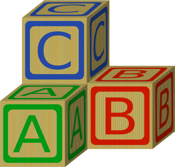 Kid clip art at. Abc building blocks clipart